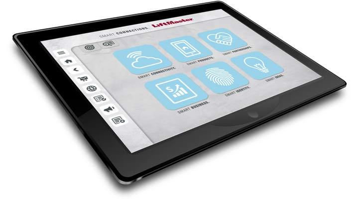 Liftmaster-App auf Tablet